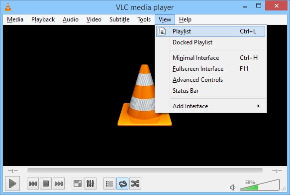 VLC View Menu